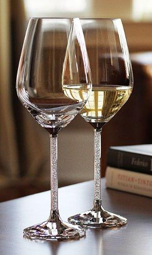 Swarovski Crystalline White Wine Glasses (Set of 2) -