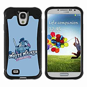 A-type Arte & diseño Anti-Slip Shockproof TPU Fundas Cover Cubre Case para Samsung Galaxy S4 IV (I9500 / I9505 / I9505G) / SGH-i337 ( Cool Game Of Thrones White Walker )