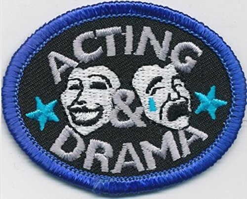 Cub Girl Boy Acting   Drama Embroidered Iron On Fun Patch 2 Crests Badge Scout Guides