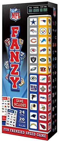 MasterPieces NFL Fanzy National Football League Fanzy Dice Game, One Size, Fanzy National Football League