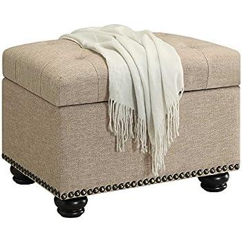 Convenience Concepts Designs4Comfort Storage Ottoman, Tan