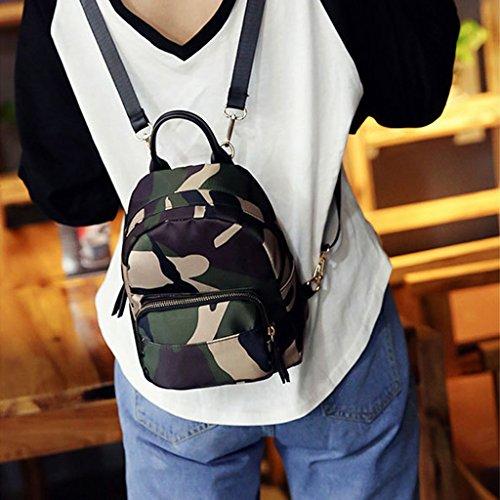 Casual Women Nylon Tote Backpack Rucksack Mini Small Shoulder JAGENIE Bag Camouflage Camouflage Travel School 1wpzfgngxq
