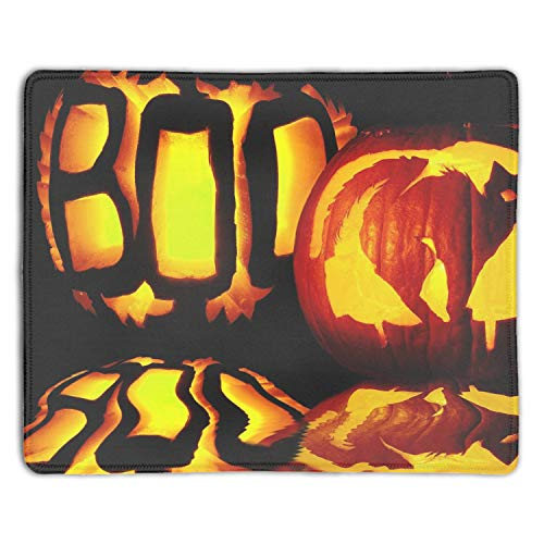 Mousepad Custom Design Gaming Mouse Pad Rubber Halloween Pumpkin Mouse Mat in 7.08(L)x 8.66(W) inch