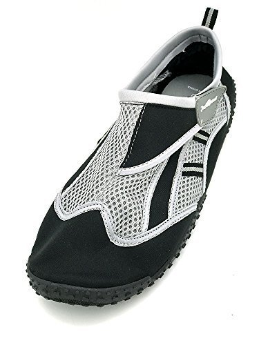 Just Speed Big Size Mens Aqua Shoes Boating sSailing Beach Sand Pool Fun Travel Water Hiking (15, Black)