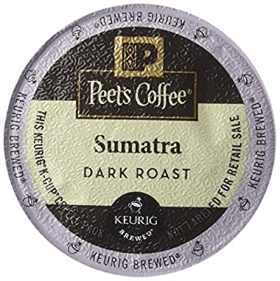 Peet's Coffee K-Cup Packs Sumatra Brewers, 10 Count (Pack of 4)