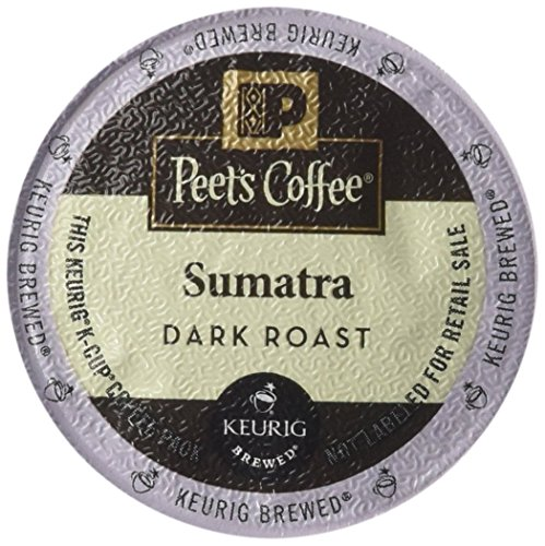 Peet's Coffee K-Cup Packs Sumatra Brewers, 10 Upon (Pack of 4)