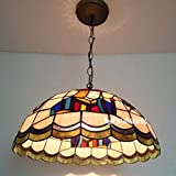 Tiffany Art Glass Original Chess Room pendant lamp Mahjong Room Restaurant Cafe Hotel Poker Light LO123436PY