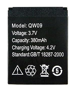 Batería de litio elegante 3.7V del reloj 3.7V 380MAH para el reloj elegante QW09