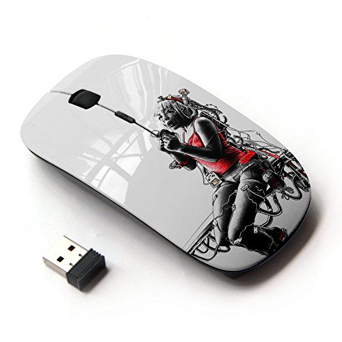 [XP-Tech [ Slim Optical 2.4G Wireless Mouse Mice With Nano Receiver for PC Desktop Computer Laptop ] - Hip female] (Female Gangsters)