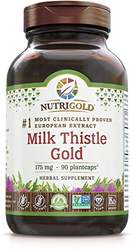 NutriGold Milk Thistle Extract - Milk Thistle Gold, 30 to 70:1 Extract with 70% Silymarins (#1 Pharmaceutical Grade Liver Support Supplement for Liver Detox and Cleanse) 90 Plantcaps