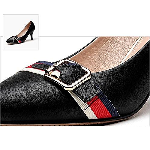 Mariage EU Travail Noir Soirée Femme 37 4 Chaussures 5 Haute Cour Talons 7cm Filles Discothèque Mode Sexy Chaussures Black De UK qzqaFwX
