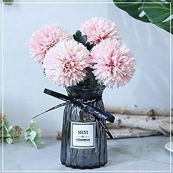 Flores Artificiales Ramo Seda Artificial Flores Ping-Pong Crisantemo Emulación Decoración De La Decoración De