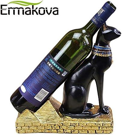 VietFA GTIN - Soporte para Botellas de Vino, diseño de Gatos egipcios de Resina: Amazon.es: Hogar