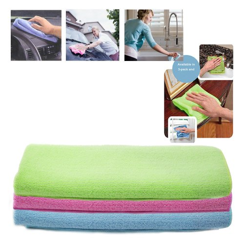 3-Microfiber-Car-Bowling-Home-Glass-Towel-Large-Dish-Auto-Cleaning-15-12-X-23