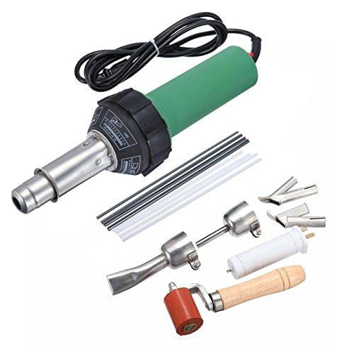 Plastic Torch (Ridgeyard 1500W Hot Air Torch Plastic Welding Gun Welder Welding Pistol + 2pcs Speed Welding Nozzle + Roller + Spare Heating Element & Rods)