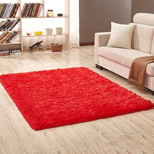 nOnioX Fluffy Shag Carpet Living Room Bedroom Bathroom Non-Slip Mat Thicker Soft Solid Colour Rug Kids Crawl Mat from nOnioX