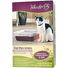 "Whisker City Cat Pan Liner 36""l X 19""w 30 Disposable Pan Liners Non-slip Elastic"
