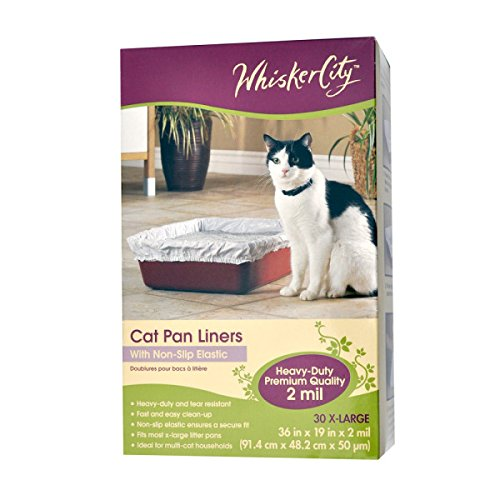 51NQViofmeL - Whisker City X Large Cat Pan Liner, 30 Count