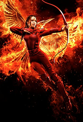 """KATNISS - The Hunger Games: MockingJay Part 2 (2015) Movie Poster, 12 x 18"""" Inches - Theater Quality (THICK 8 Mil) - Jennifer Lawrence, Josh Hutcherson, Liam Hemsworth"""
