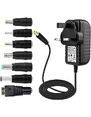 YUWLDD Power Supply Adapter 12V 1A 12W,Power Plug for 12V Home Appliances,CCTV Camera,Yamaha keyboard,Routers,Hubs,LED strips,Telekom,T-Com,Speedport,Radiowecker,Scanner,Switch+7Plugs