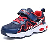 LGXH Breathable Boys Girls Running Walking Tennis Shoes Comfortable Youth Kids Sport Athletic Sneakers Dark Blue Size 4.5 M US Big Kid
