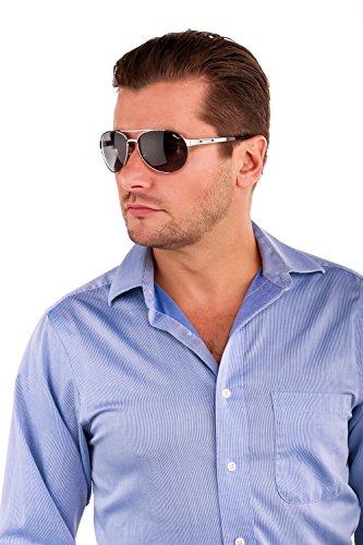 4df051fcdf6 CHOPARD SCH 932 628Z Men 23KT GP Silver Frame Polarized Aviator Sunglasses  - Buy Online in