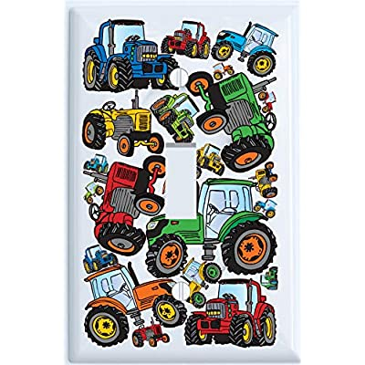 Presto Wall Decals Farm Tractor Light Switch Plates Covers/Single Toggle: Home & Kitchen