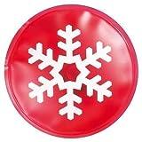 eBuyGB Reusable Gel Hand Warmer/Heat Pack - Instant Heating (Red Snowflake)