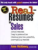 img - for Real-Resumes for Sales (Real-Resumes Series) book / textbook / text book