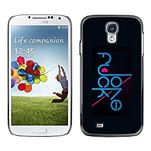 Paccase / SLIM PC / Aliminium Casa Carcasa Funda Case Cover - Funny Love Typography Message - Samsung Galaxy S4 I9500
