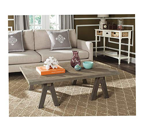 Wood & Style Furniture Collection Prairie Deep Grey Rattan Coffee Table Premium Office Home Durable -