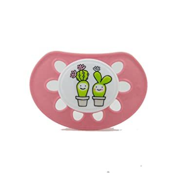 Amazon.com : Classic Silicone Pink with Cactus : Baby