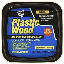 DAP 08135 Plastic Carpenter's Latex Wood Filler, 8 oz, Natural