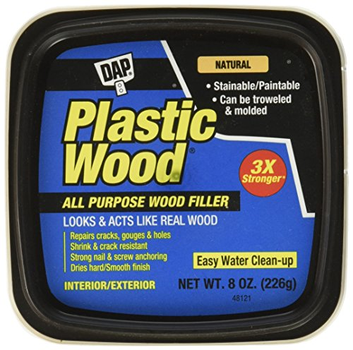 DAP 08135 Plastic Carpenter's Latex Wood Filler, 8 oz, Natural