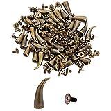 50pcs Chili Shaped Cone Spikes Screwback Studs DIY Craft Cool Rivets Punk Stud 7x21mm 1/4''x3/4'' Vintage Bronze