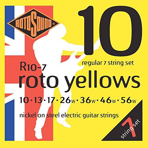 Rotosound R10-7 Nickel Regular 7 String Electric Guitar Strings (10 13 17 26 36 46 56) ()
