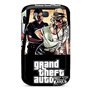Defender Case With Nice Appearance (gta5 Poster Woman Cop) For Galaxy S3