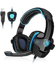 GHB Sades Auriculares Gaming Cascos con Micrófono SA-901