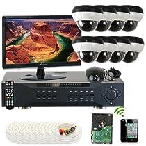 GW Security Inc. 8CHE5 8-Channel H.264 960H/FD1 DVR (Black/White)