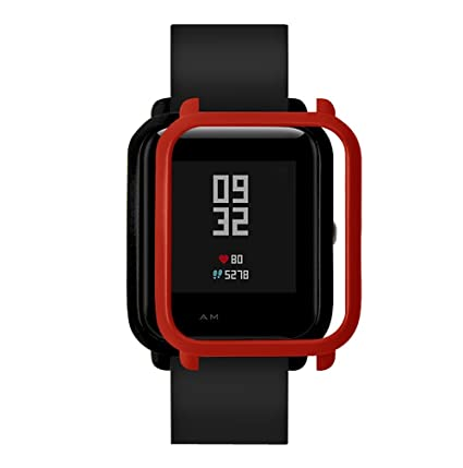 MYQyiyi Protector de Pantalla del Reloj Inteligente para Xiaomi Huami Amazfit Bip Youth Watch (Rojo