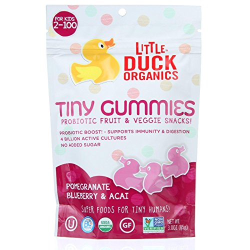 Little Duck Organics Tiny Gummies - Pomegranate, Blueberry, & Acai - 3 oz