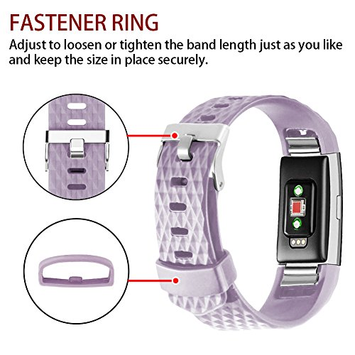 POY Replacement Bands Compatible for Fitbit Charge 2, Classic & Special Edition Adjustable Sport Wristbands