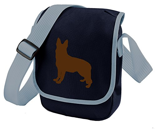 Alsation Gift Colours Silhouette of Brown Bag Bag Bag Blue German GSD Shepherd Bag Shoulder Dog Choice Bag German Dog Shepherd Reporter Sq4aa7P