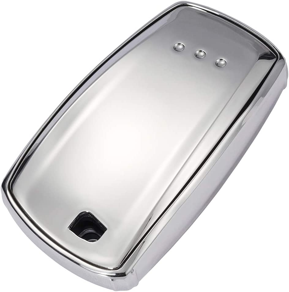 Blue Lcyam Key Fob TPU Cover Glossy Case Full Protective Fits for BMW Key FOB X3 F30 F10 F80 335 328 528 440I 740I M2 M3 M5 BMW 3 5 6 F Series