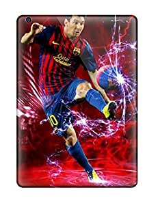 Ultra Slim Fit Hard Vivian Walton Case Cover Specially Made For Ipad Air- Artistic Messi Sending Screen Protector in Free