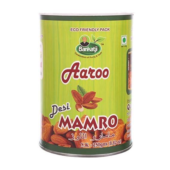 Bankatji Aaroo Desi Regular Mamro Mamra Badam (Almond), 250 Grams
