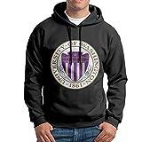 FUOALF Mens Pullover University Of Washington Hooded Sweatshirt Black XL
