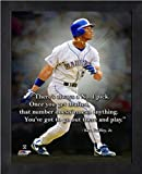 "Ken Griffey Jr. Seattle Mariners Pro Quotes Photo (Size: 9"" x 11"") Framed"