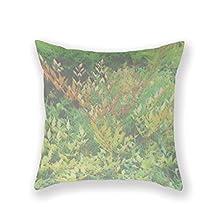 HuGo Cotton Square Nature, Throw, Debi, Bonine Throw Pillow Case Decorative Cushion Cover Pillowcase for Sofa 18 x 18