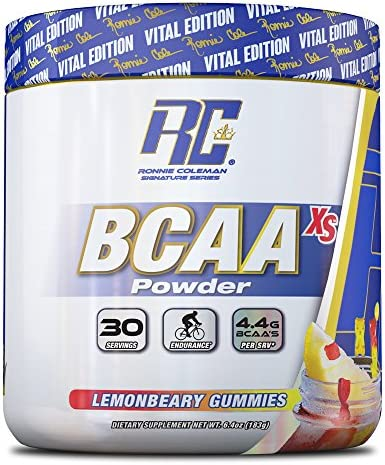 Ronnie Coleman Signature Series BCAA XS 2 1 1 Powder, Lemonbeary Gummies, 6.4 Ounce